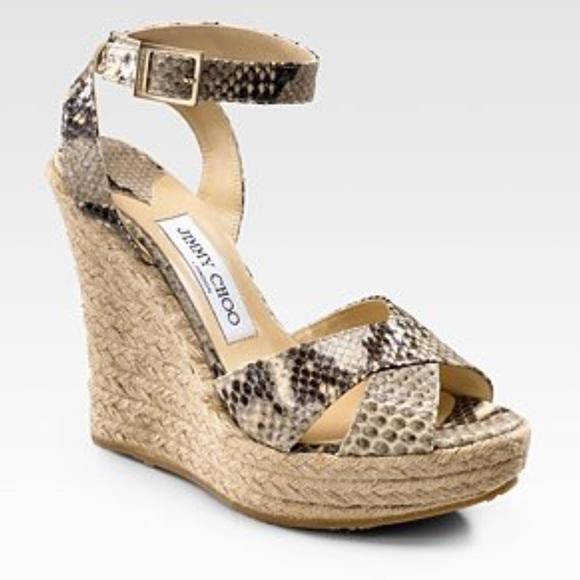 3fe3d46ae10d Jimmy Choo Shoes | Python Espadrilles Wedge Size 399 | Poshmark